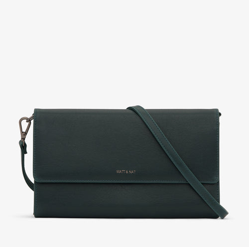 Matt & Nat - Drew Vintage Crossbody Bag - Emerald
