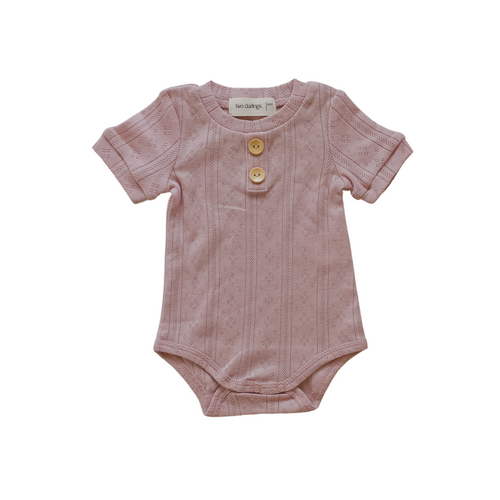 Two Darlings Rose Pointelle Basic Body Suit