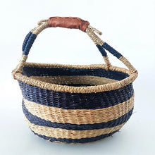 Load image into Gallery viewer, Viva La Franki Boho Market Basket - Stripes Royal Blue