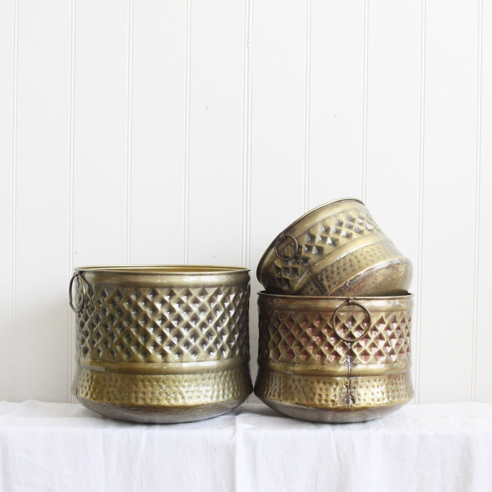 Saarde Axl Pots - Brushed Brass