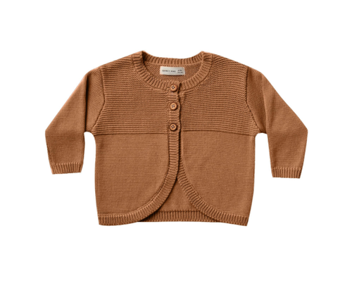 Quincy Mae - Knit Cardigan Walnut