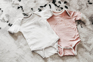 Little Darling Romper/Tee - Grey