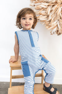 Ocean Stripe Sleeveless Suit