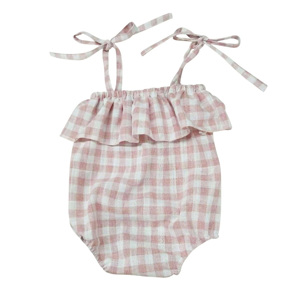 Bonnie & Harlo - Dolly Romper Pink Check