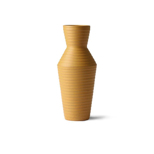 Ceramic Flower Vase - Ochre