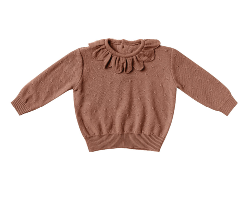 Quincy Mae - Petal Knit Sweater Clay