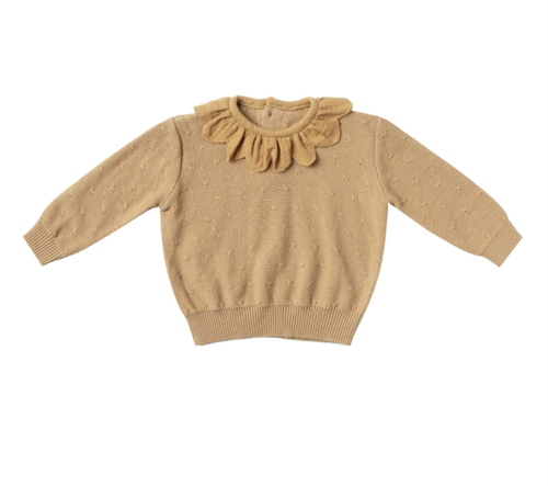 Quincy Mae - Petal Knit Sweater Honey