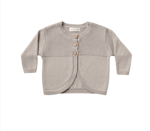 Quincy Mae - Knit Cardigan Fog