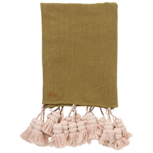 Load image into Gallery viewer, Kip & Co Desert Rose Tassel Throw