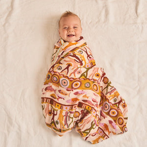 Banabae Organic Cotton  Swaddle - Bountiful Bamboo