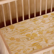 Load image into Gallery viewer, Banabae Hemp/Organic Cotton Fitted Cot Sheet - Goldfields