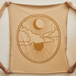 Banabae Reversible Organic Cotton Blankie - Harvest Moon