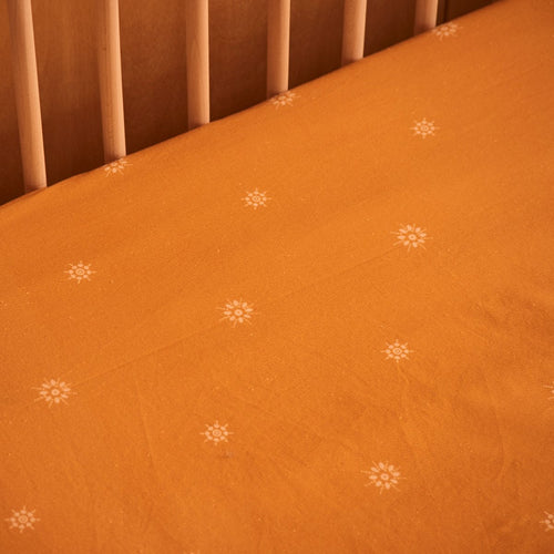 Banabae Organic Hemp/Cotton Fitted Cot Sheet - Celestial Sunshine