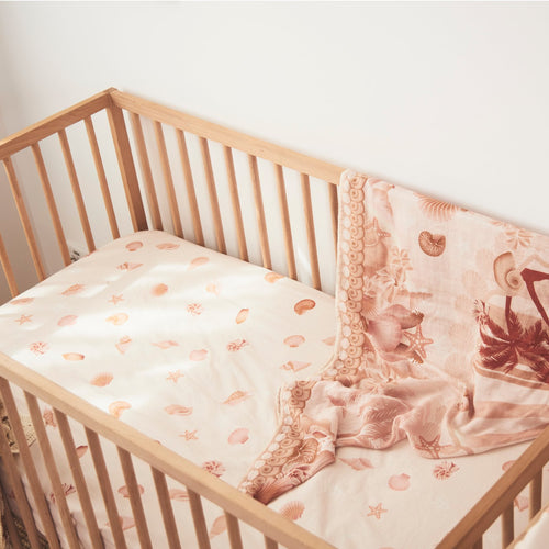 Banabae Shell Collector Hemp/Organic Cotton Fitted Cot Sheet