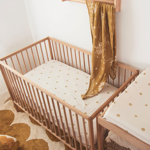 Banabae Celestial Gold Fitted Cot Sheet