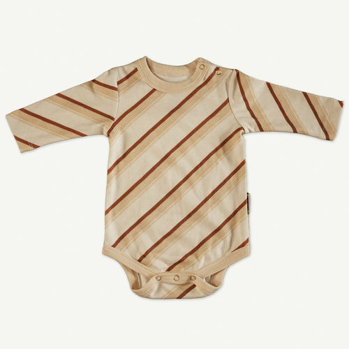 Banabae Organic Cotton L/S Onesie - Earth Stripe