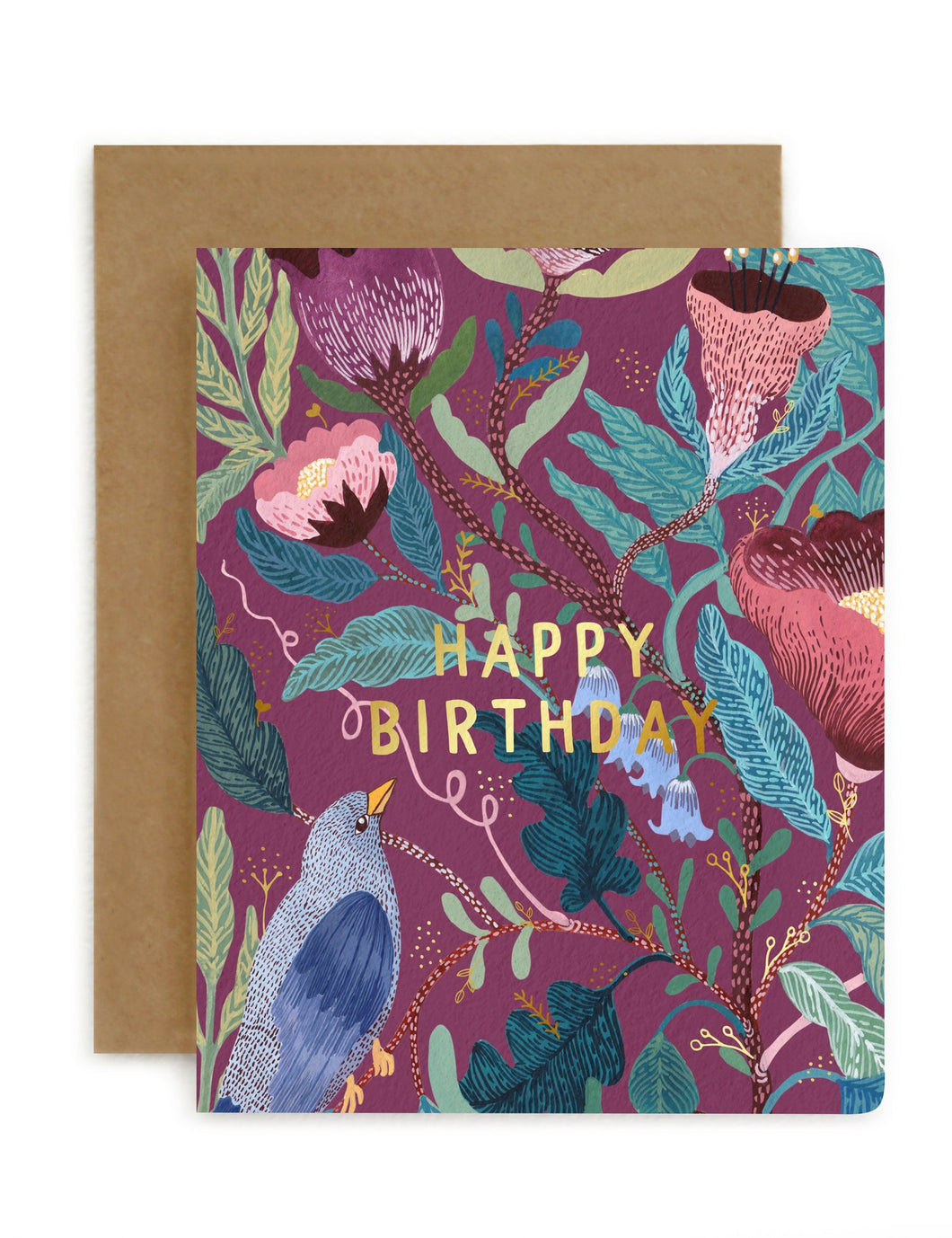 Bespoke Letterpress - Blomstra 'Happy Birthday'