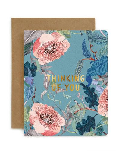 Bespoke Letterpress - Blomstra 'Thinking of You' Card