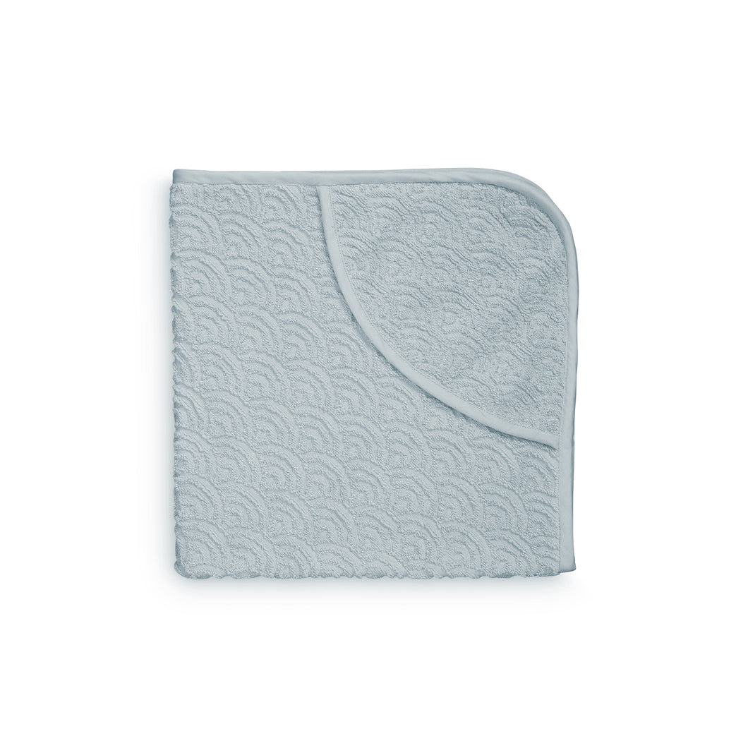 Cam Cam Hooded Wave Baby Towel - Petroleum