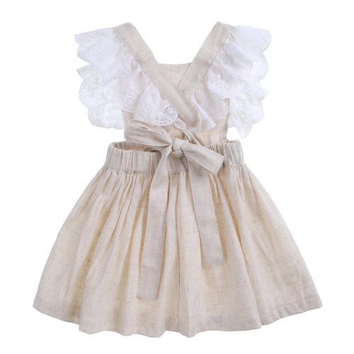 Bonnie & Harlo - Cupid Dress  Natural Linen