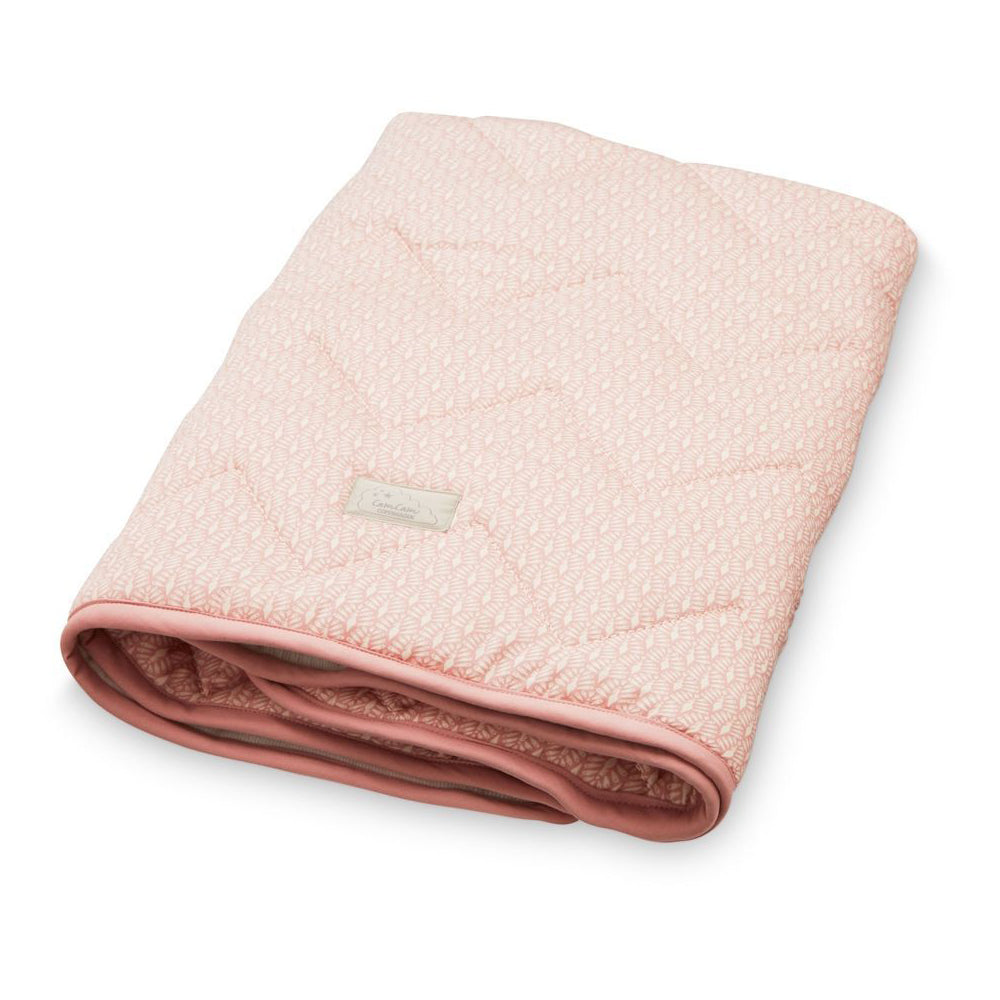 Cam Cam Baby Blanket Peacock - Old Rose