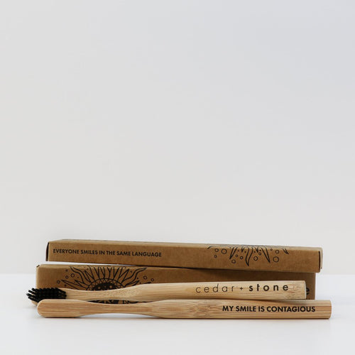 Cedar & Stone- Bamboo Charcoal Toothbrush