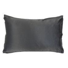 Load image into Gallery viewer, The Goodnight Co - Silk Pillowcase - Charcoal