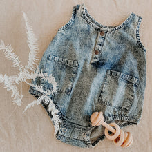 Load image into Gallery viewer, Children of the Tribe -Button Up Chambray Romper