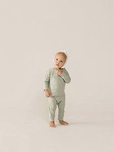 Quincy Mae- Drawstring Pants - Sage
