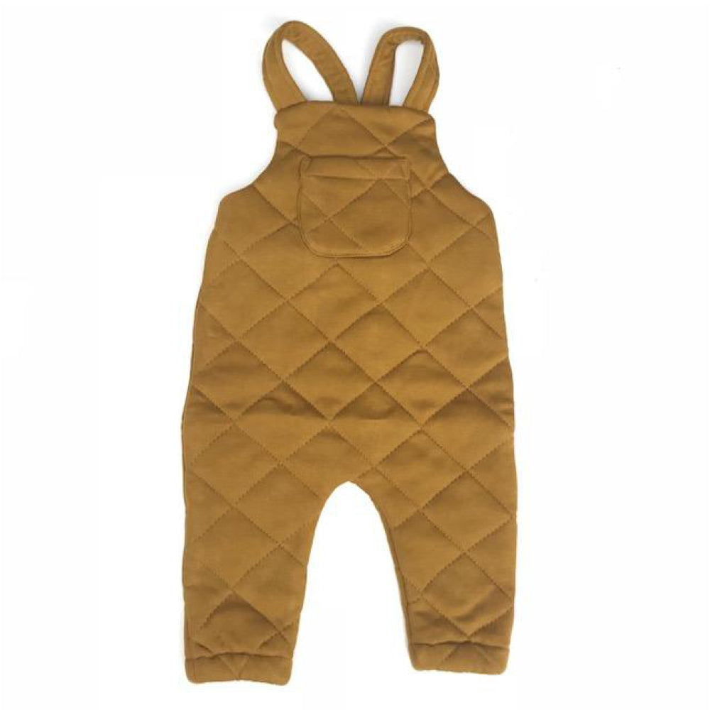 Quentin Quilted Overalls- Golden