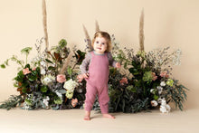 Load image into Gallery viewer, Ziggy Waffle Overalls- Pink