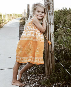 Little Luna Dress- Sleeveless Marigold