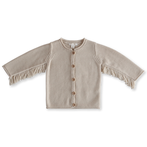 Grown Baby Bird Fringe Cardigan - Clay