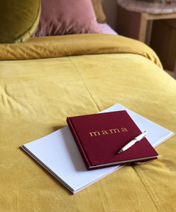 Write To Me Mama Journal - Maroon