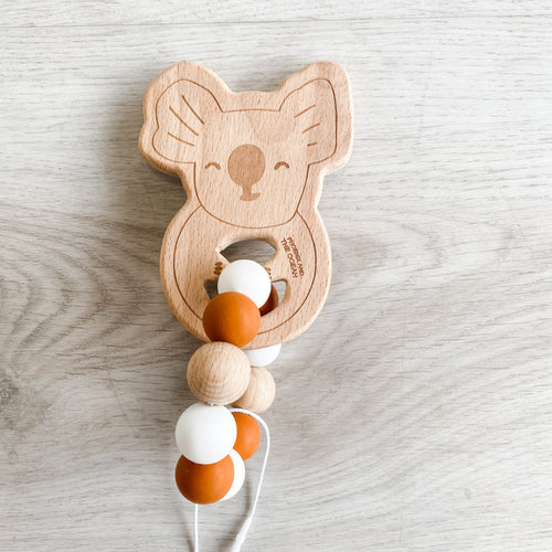 My Little Giggles Koala Ring Teether - Rust