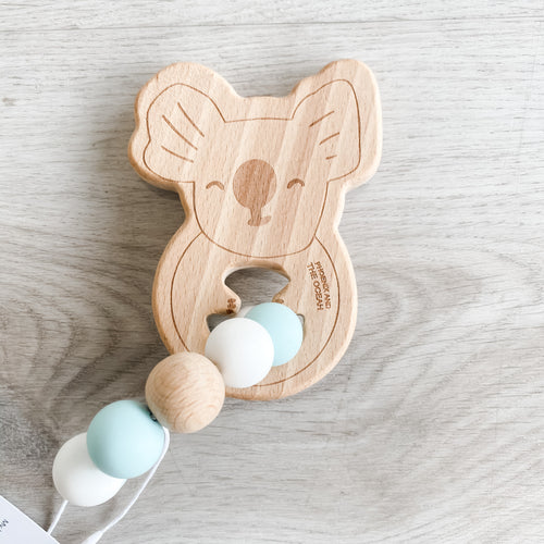 My Little Giggles Koala Ring Teether - Sea Glass