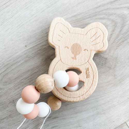 My Little Giggles Koala Ring Teether - Peachy