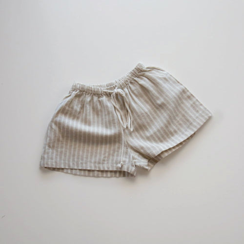 Thea Shorts- Oat Stripe