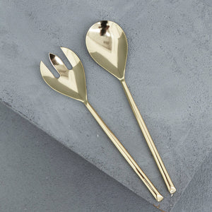 Zoya Brass Salad Servers