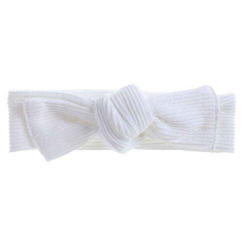 Bonnie & Harlo - Ribbed Headwrap White