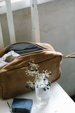 Load image into Gallery viewer, The Dharma Door -Jute Canvas Toiletry Bag - Camel