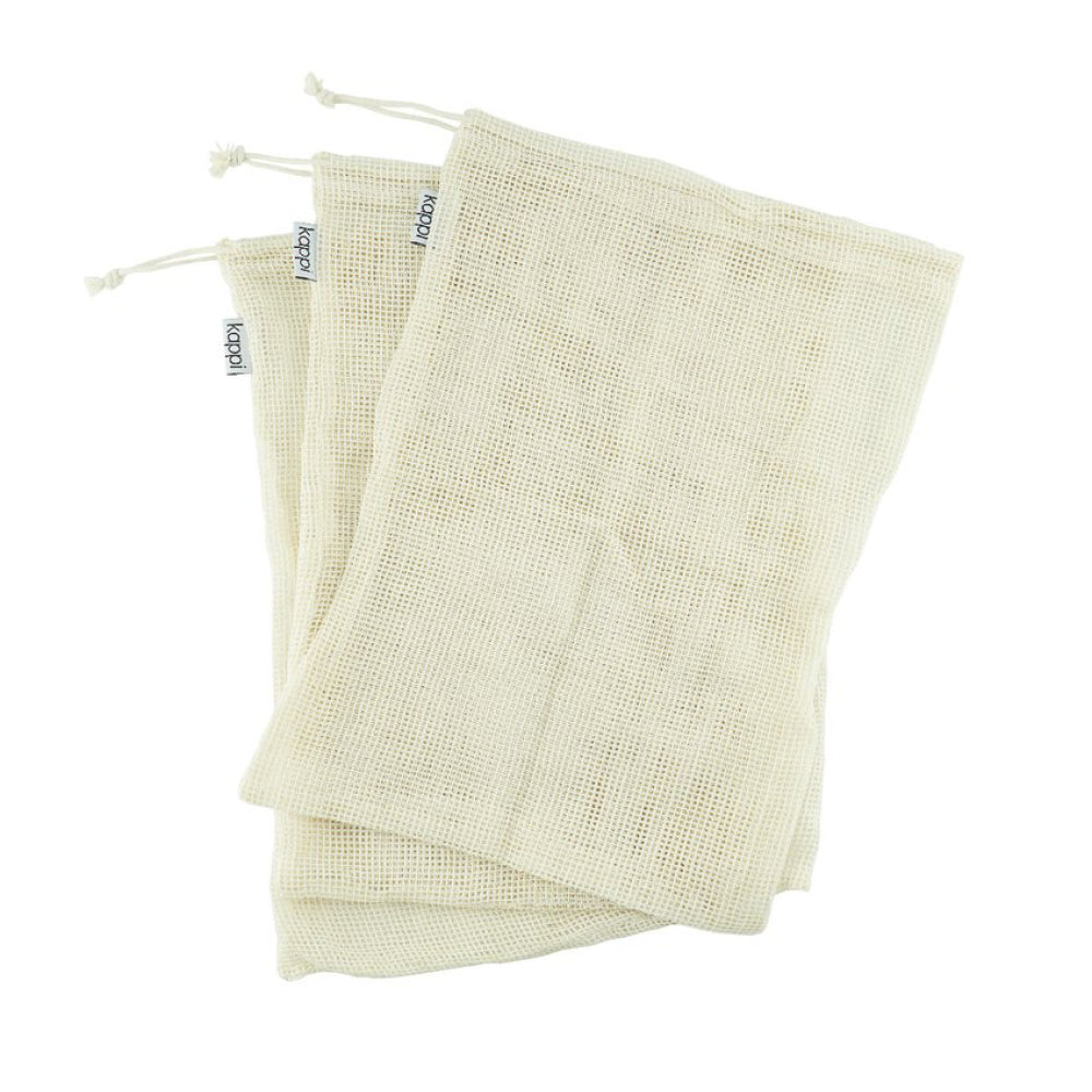 3 pack Organic Cotton Produce Bags