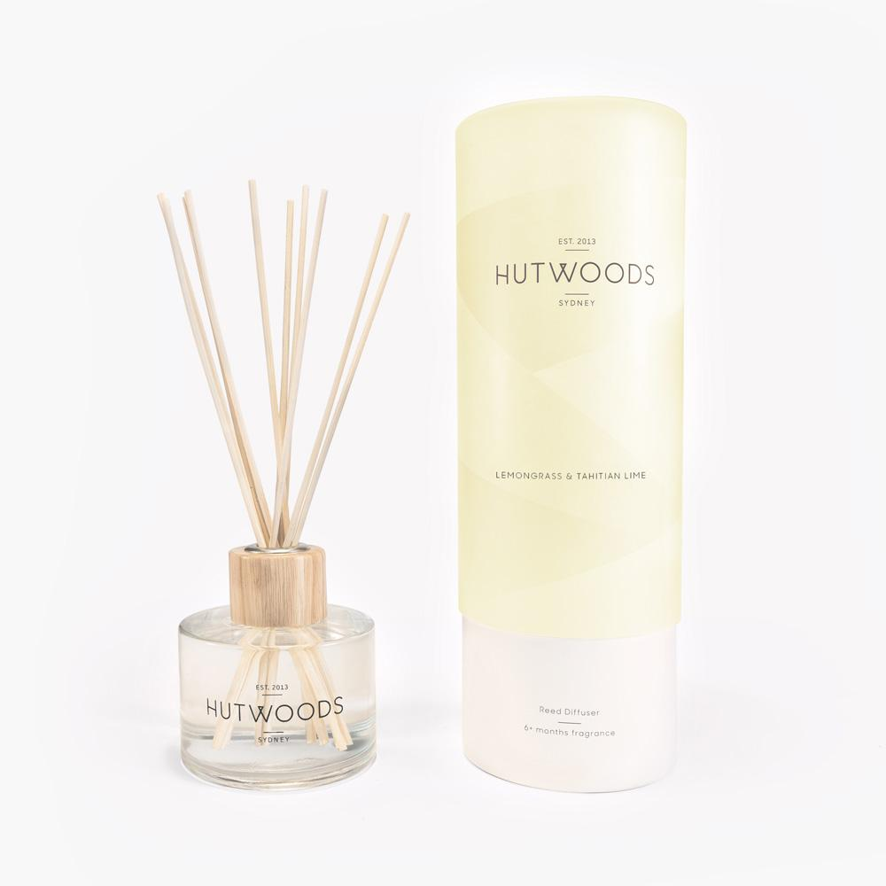 Hutwoods Reed Diffuser - Lemongrass & Tahitian Lime