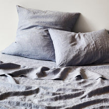 Load image into Gallery viewer, Sage & Clare- Linen Euro Pillowcase Set- Chambray