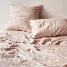 Load image into Gallery viewer, Sage & Clare- Linen Fitted Sheet- Blush