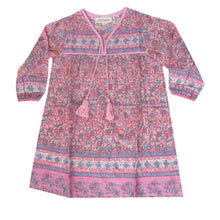 Load image into Gallery viewer, L/S Little Luna Dress- Peony