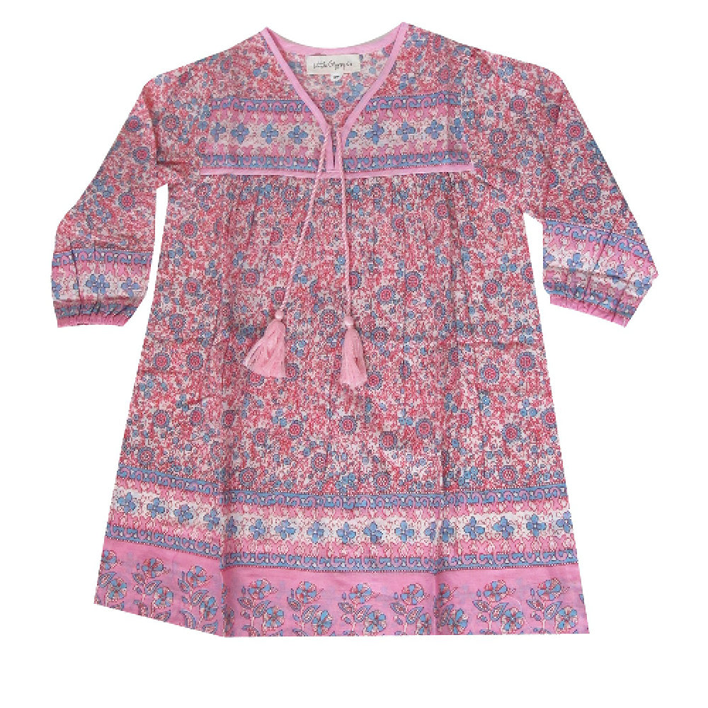 L/S Little Luna Dress- Peony