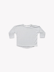 Quincy Mae - LS Baby Tee - Grey Stripe