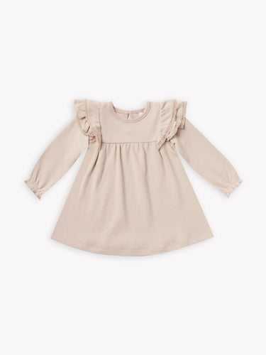Quincy Mae LS Flutter Dress - Rose