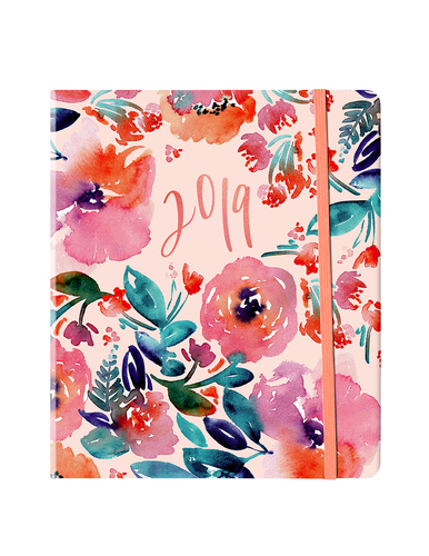Candy Florals Weekly Diary/Planner 2019